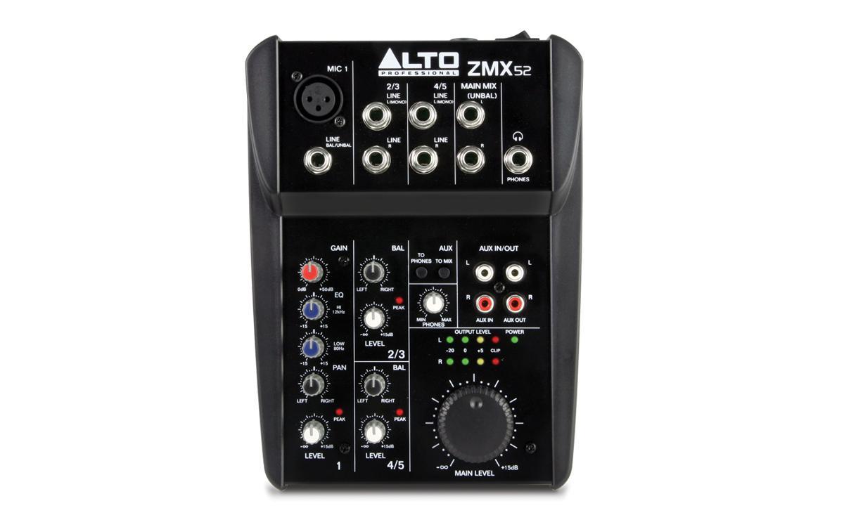 5-канальный микшерный пульт Alto ZMX52