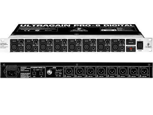 Behringer ADA 8000 ULTRAGAIN PRO-8 DIGITAL - 8-канальный АЦ/ЦА преобразователь