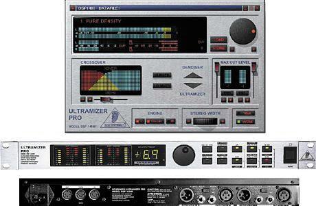 Behringer DSP 1424P ULTRAMIZER PRO - 2-полосный 2-канальный компрессор/ левеллер/ лимитер/ энхансер
