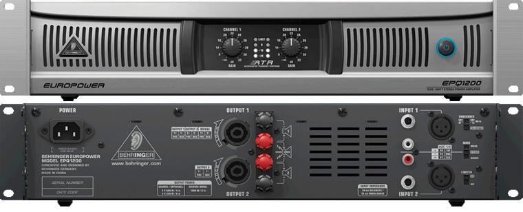 Behringer EPQ 1200 EUROPOWER профессиональный стерео усилитель мощности на основе ATR технологии
