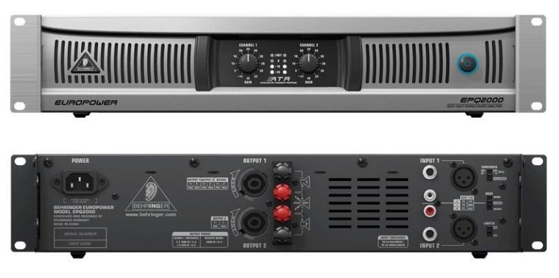Behringer EPQ 2000 EUROPOWER профессиональный стерео усилитель мощности на основе ATR технологии