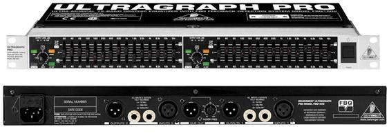Behringer FBQ 1502 ULTRAGRAPH PRO - 2-канальный 2/ 3 октавный графический эквалайзер