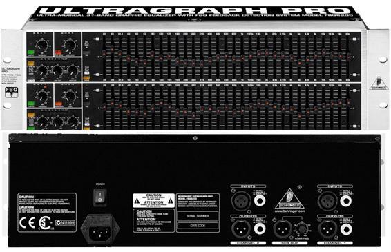 Behringer FBQ 6200 ULTRAGRAPH PRO - 2-канальный 1/ 3 октавный графический эквалайзер