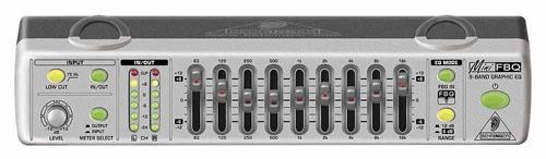 Behringer FBQ 800 - 2-канальный 9-полосный графический эквалайзер