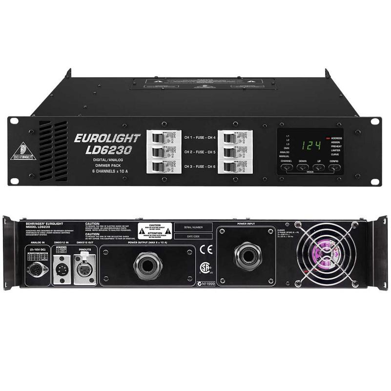Behringer LD 6230 EUROLIGHT Силовой блок управления свет. приборами с аналоговым и DMX контролем