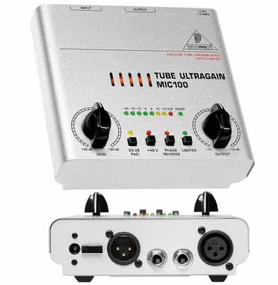 Behringer MIC-100 TUBE ULTRAGAIN микрофонный предусилитель