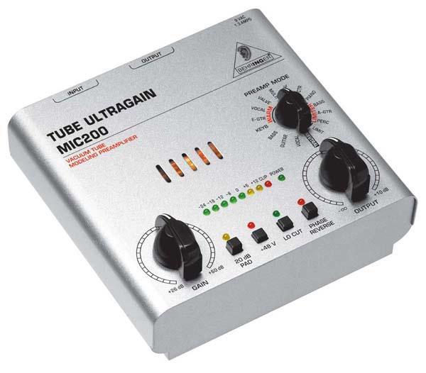 Behringer MIC-200 TUBE ULTRAGAIN микрофонный предусилитель