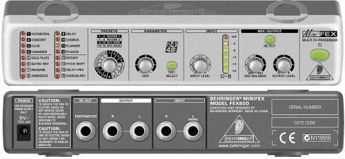 Behringer MINIFEX FEX800 - ультракомпактный 24-битный стереофонический мультиэффект-процессор