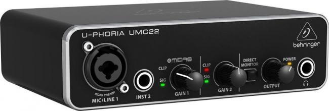 Аудиоинтрефейс Behringer UMC22