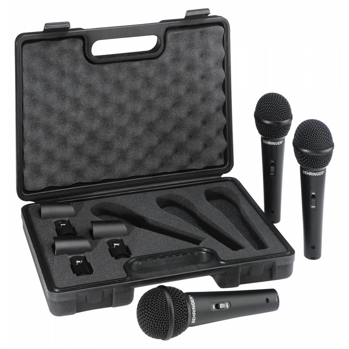 Behringer XM 1800S 3-PACK Комплект из 3-х суперкардиоидных динамических микрофонов с выключателями