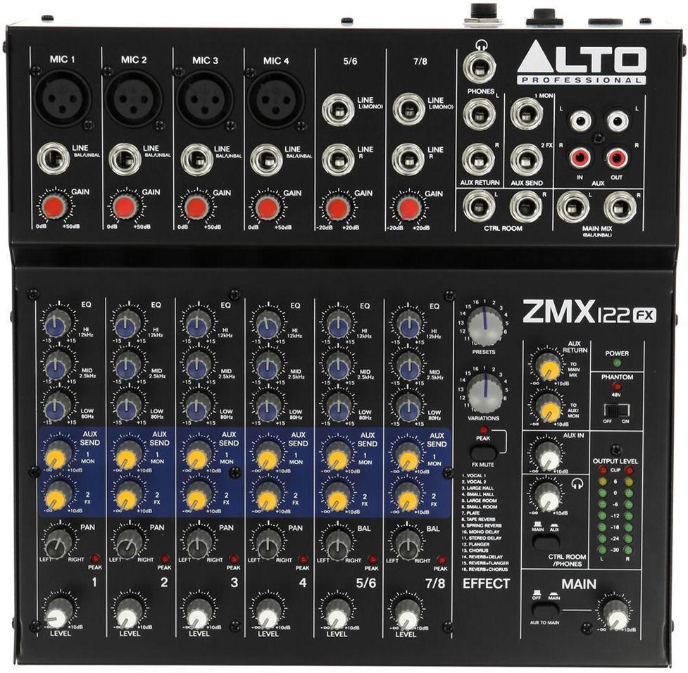 12-канальный микшерный пульт Alto ZMX122FX