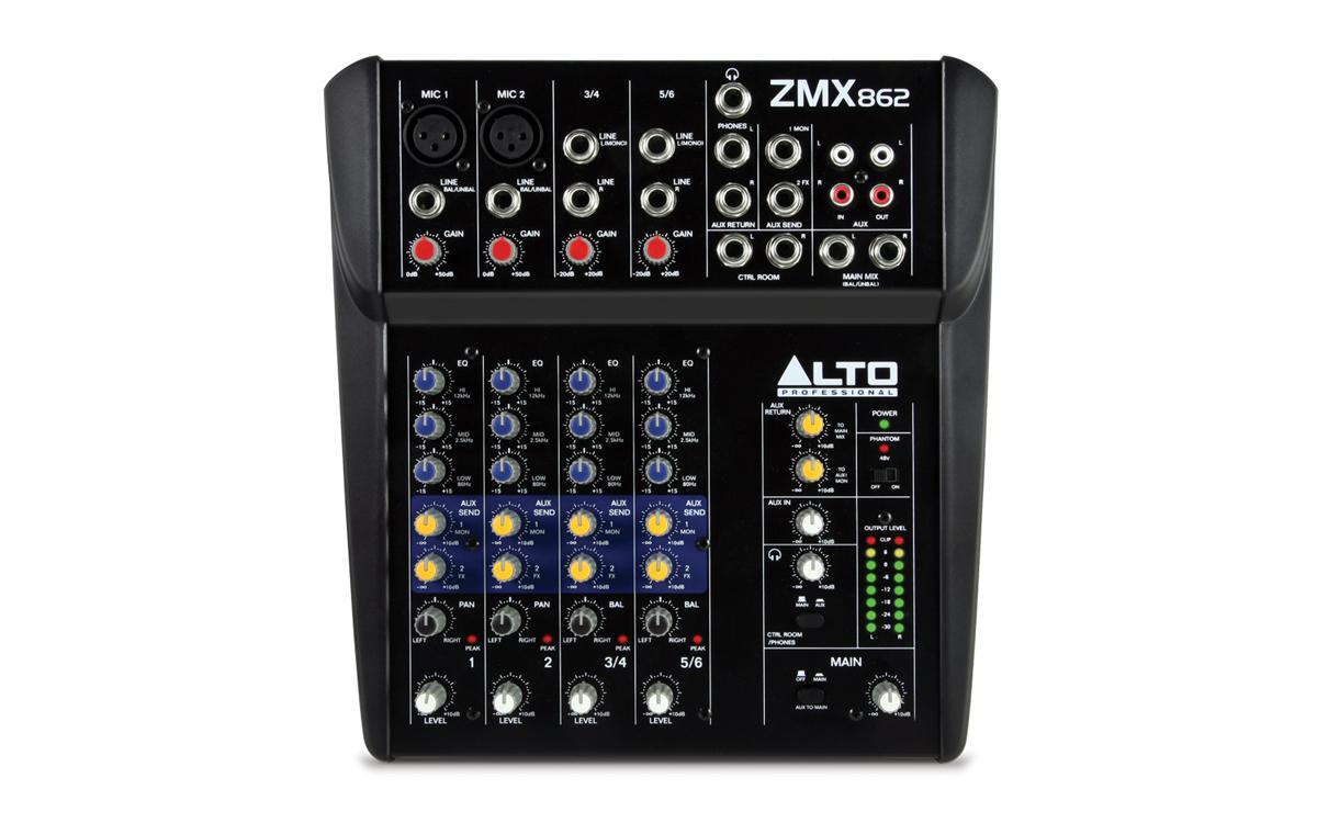 6-канальный микшерный пульт Alto ZMX862