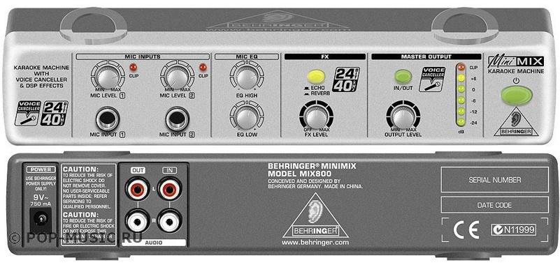 Караоке-процессор BEHRINGER MIX 800 MINIMIX