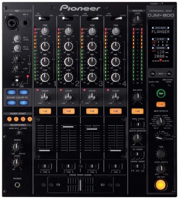 Профессиональный микшерный DJ пульт Pioneer DJM-800