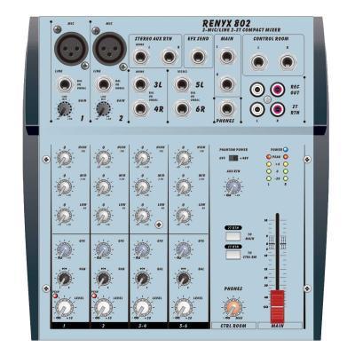 Roxy RENYX 802 - Профессиональный Концертный Звуковой Микшерный Пульт