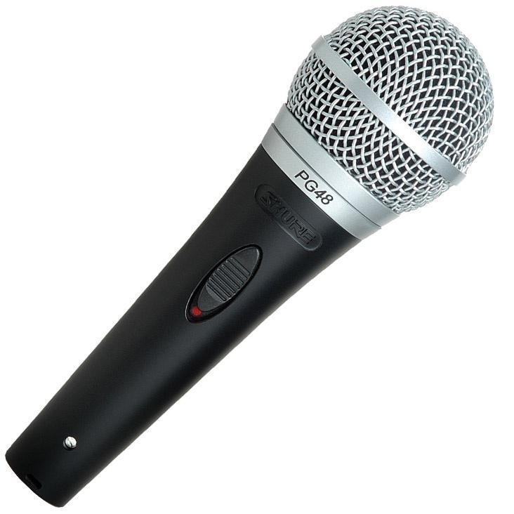 SHURE PG48-QTR Вокальный динамический кардиоидный микрофон с кабелем XLR-Jack
