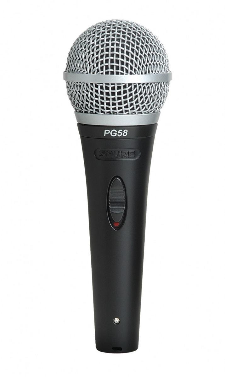 SHURE PG58-XLR Вокальный кардиоидный динамический микрофон с кабелем
