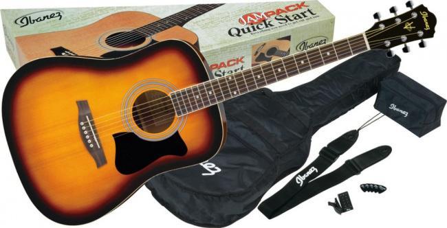 Акустическая гитара IBANEZ V50NJP VINTAGE SUNBURST набор